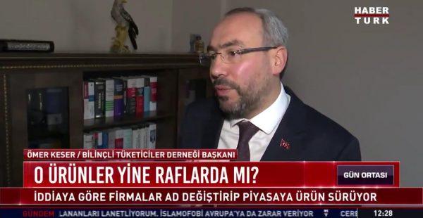 Gıda denetimleri çalışmamız Haber Türk TV'de